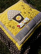 Úžitkový textil - Vtáčia búdka - vankúš - 8355397_