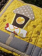 Úžitkový textil - Vtáčia búdka - vankúš - 8355398_