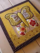 Textilný obraz - motýľ