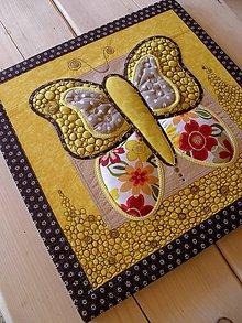 Obrazy - Textilný obraz - motýľ - 8355483_