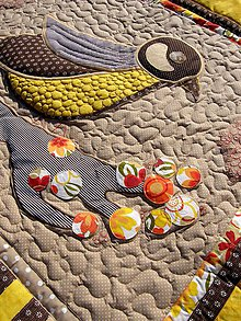 Úžitkový textil - Prehoz - sýkorka - 8355498_