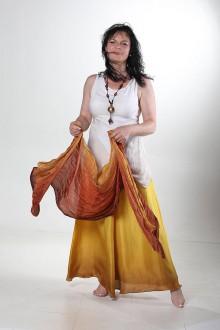 Sukne - Čáry a kouzla - dlouhá hedvábná sukně - 8354020_