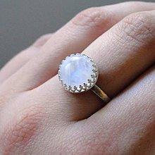Prstene - Moonstone & Bright Silver Ag 925 / Strieborný prsteň s mesačným kameňom #2119 - 8356617_