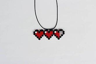 Náhrdelníky - Náhrdelník Pixel Hearts - 8357673_