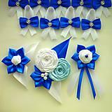 Pierka - Modré svadobné pierka pre hostí - 8358252_