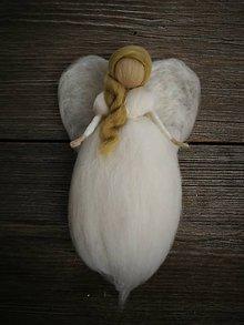 Dekorácie - Plsteny anjel - 8356830_