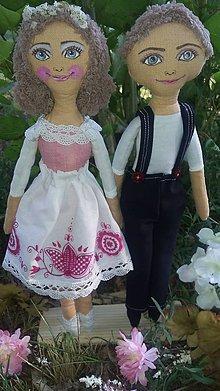 Bábiky - Svadobný pár - 8359099_