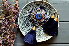 Royal blue tassel - sutaškový náhrdelník