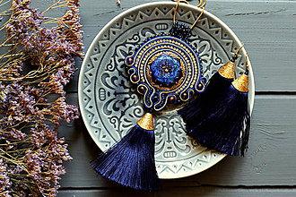 Sady šperkov - Royal blue tassel - sutaškový náhrdelník - 8356981_