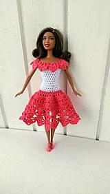 Hračky - Lososovobiele šaty pre Barbie - 8355895_