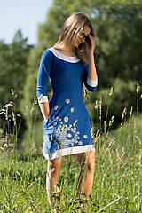 Šaty - Dámske šaty mini, šité, maľované, etno DHRUTI - 8356353_