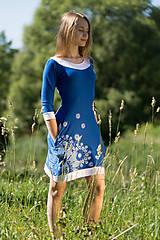 Šaty - Dámske šaty mini, šité, maľované, etno DHRUTI - 8356366_