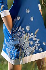 Šaty - Dámske šaty mini, šité, maľované, etno DHRUTI - 8356372_