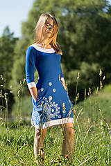 Šaty - Dámske šaty mini, šité, maľované, etno DHRUTI - 8356374_
