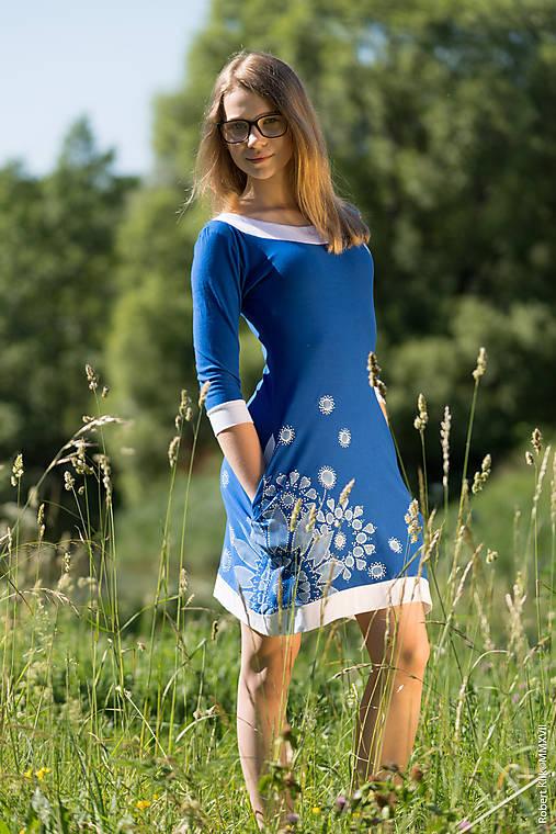 Dámske šaty mini, šité, maľované, etno DHRUTI
