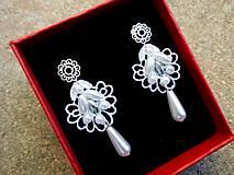 - svadobné čipkové náušnice - 8356322_