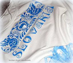 Tričká - Maľovaný ľudový vzor - 8356848_
