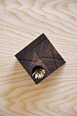 Nádoby - WALNUT OBJECT /soľnička z orechového dreva/ (Pre špáratká) - 8356940_