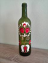 Nádoby - maľovaná fľaša na víno - 8359186_