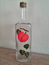 Nádoby - maľovaná fľaša ovocie - 8359208_