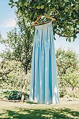Sukne - Bledomodrá skladaná sukňa Dyona - 8356197_