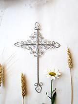 Dekorácie - svadobný krížik *22 cm - 8355762_