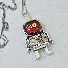 Náhrdelníky - Robotek, náhrdelník,android,steampunk - 8360266_