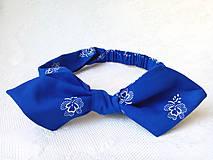 Ozdoby do vlasov - Pin Up čelenka (modrý folklór) - 8361239_