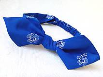 Ozdoby do vlasov - Pin Up čelenka (modrý folklór) - 8361240_