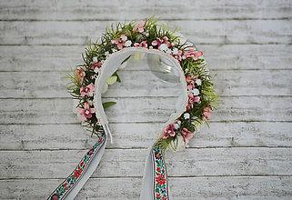 Ozdoby do vlasov - Exkluzívna svadobná kvetinová parta z kolekcie \