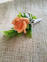 Pierka - pierko pre ženícha oranžová ruža - 8360002_