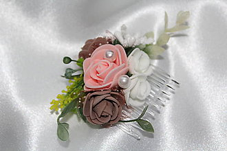Ozdoby do vlasov - Kvetinový hrebeň \