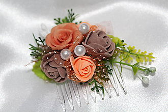 """Ozdoby do vlasov - Kvetinový hrebienok """"Glamour"""" - 8361466_"""