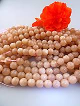 slnečný kameň ružový 10mm korálky