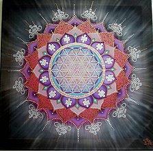 Obrazy - Mandala stvorenia a šťastia - 8361398_