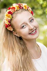 Ozdoby do vlasov - Kvetinová čelenka - Slnečný svit - 8362289_