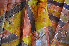 Hodvábny šál pestrá jeseň