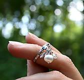 Prstene - Duša spája - strieborný perlový prsteň so Swarovski komponentami - 8359864_