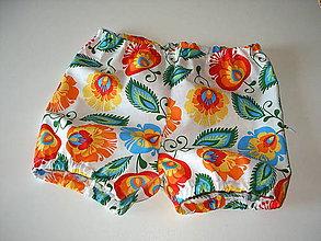 Detské oblečenie - gaťure bombarďáčiky folk - 8359669_