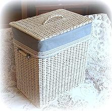 Košíky - Košík - šedá elegancia XL - 8360910_