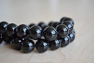 Minerály - Turmalín čierny (skoryl) 10mm, 0.55€/ks - 8360134_