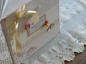 Papiernictvo - Veľký svadobný jemný svetložltý fotoalbum - 8364485_