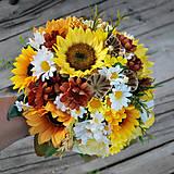 Svadobná kytica slnečnicová, letná, jesenná