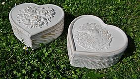 Krabičky - Drevená šperkovnica (biela) - 8364098_