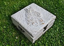 Krabičky - Drevená šperkovnica kôň - 8364173_