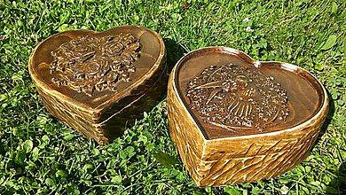 Krabičky - Drevená šperkovnica drevorezba (tmavá) - 8364079_