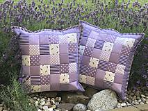 Úžitkový textil - Levanduľa Patchwork vankus - 8365029_