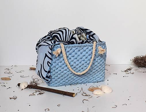 8325374f09 Kabelka   košík recy modro-šedý   ByBea - SAShE.sk - Handmade Kabelky
