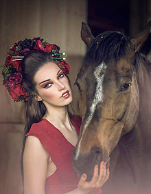 Ozdoby do vlasov - Svadobná kvetinová parta - 8362401_
