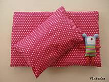 Úžitkový textil - Sivé a ružové HVIEZDIČKY návliečky do postieľky Obojstranné obliečky 100% bavlna - 8363311_
